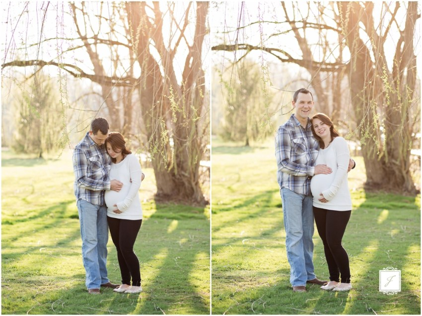 Spring Willow tree anniversary session in Latrobe by Jackson Signature Photography