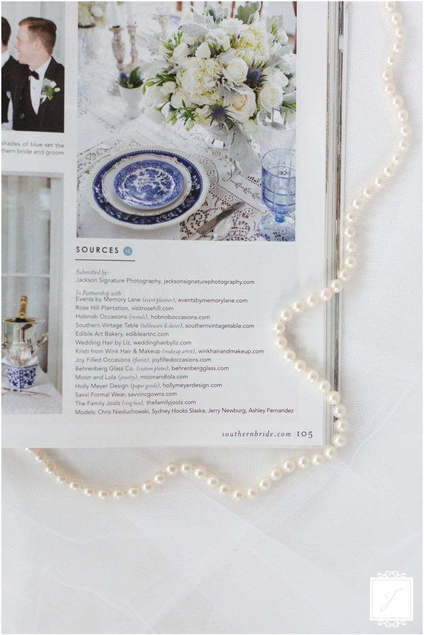 Southern Styled Wedding featured in Southern Bride Magazine