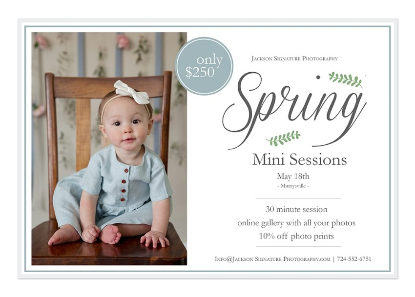 Latrobe, Greensburg and Murrysville spring mini sessions for mommy and me, families and children with Jackson Signature Photography a Greensburg, Latrobe and Pittsburgh family portrait photographer.