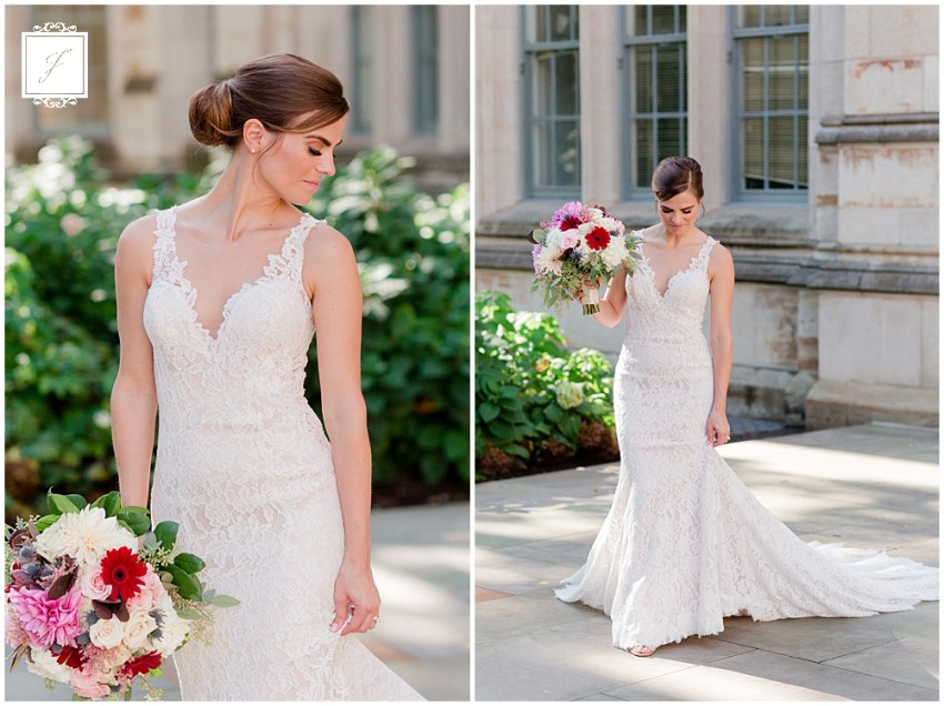 Laura & Lee's Saint Berdard Catholic Church Wedding with Oakland and the Cathedral Of Learning Portraits complete with a reception at the LeMont on Mount Washington by Jackson Signature Photography a Pittsburgh Wedding Photographer.