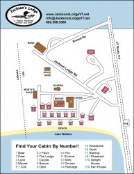 lodge map jackson area local cabin maps site cabins numbers log