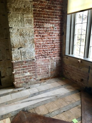 Some repair work after mold was found under some flooring. It's open now to dry out and you can see inside the wall structure.