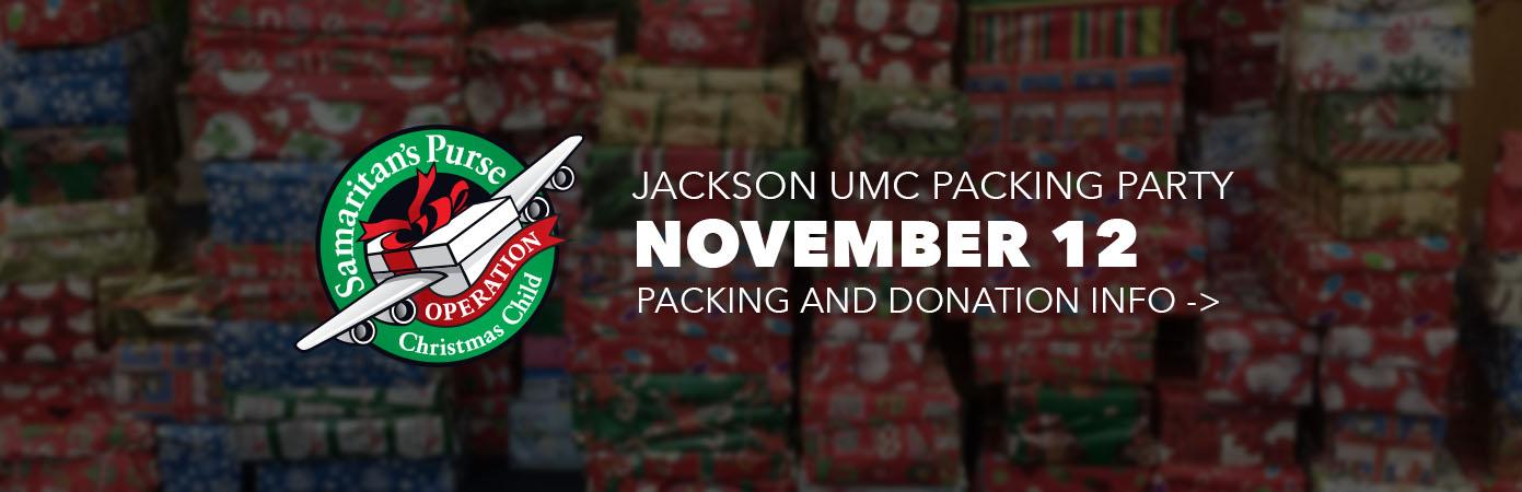 Operation Christmas Child at Jackson UMC
