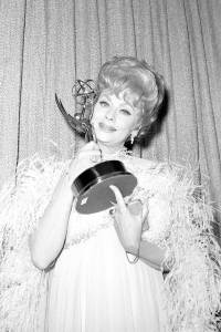 Lucille Ball with Emmy Award