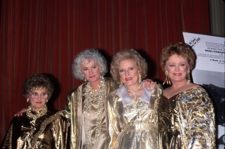 Actresses Estelle Getty Beatrice Arthur Betty White and