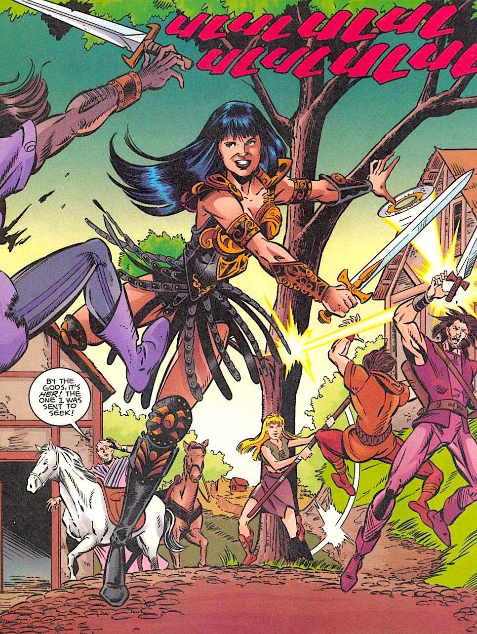 Xena vs Callisto Comic Book #1 Art Cover Topps Comics 1998 NEAR MINT