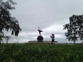 Running in Memorial Park