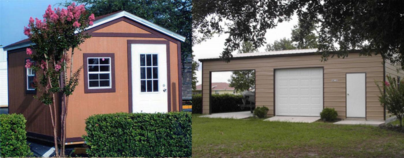 jacksonville sheds and garages