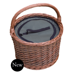 Round Cool Picnic Basket