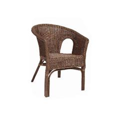 Brown Rattan Adults Chair