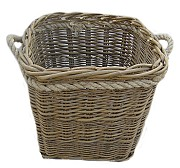 Green Ash Rope Handled Square Log Basket