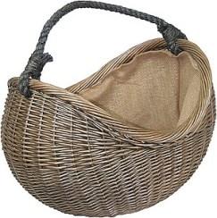 Antique Wash Rope Handled Carrying Basket
