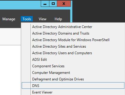 Server Manager - DNS