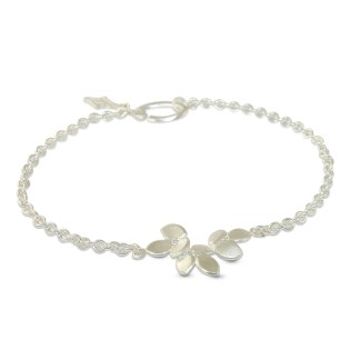Silver diamond bracelet with three small diamonds by Jacks Turner