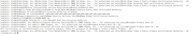 Checking VeriSign Class 3 Public Primary Certification Authority - G5