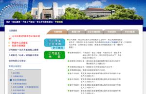 台北市商業處-有限公司登記