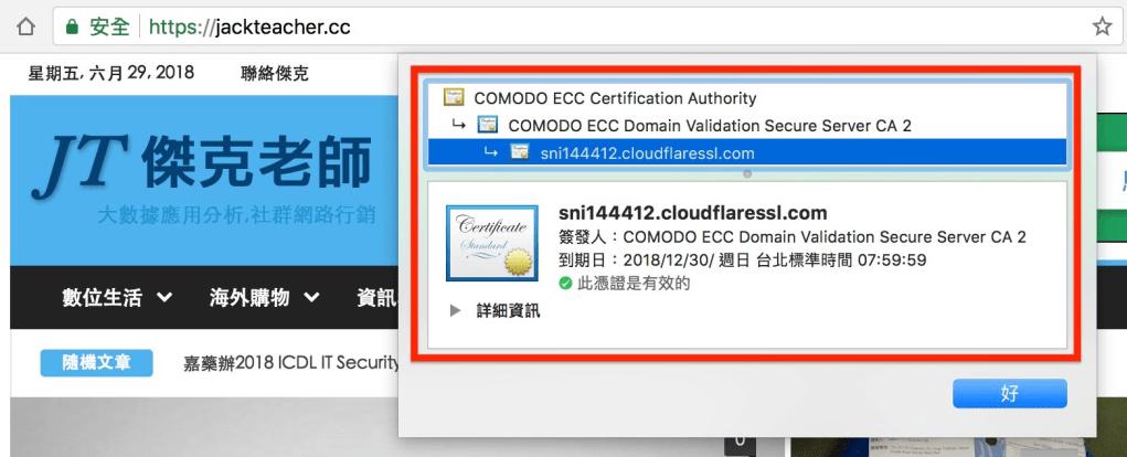 cloudflare提供免費ssl憑證支援https