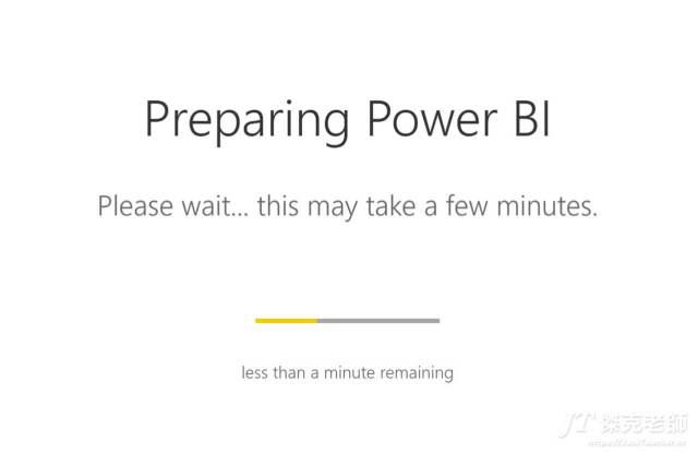 系統正在建立Power BI帳號中