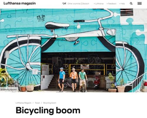 Bicycling boom Jack the Bike Man