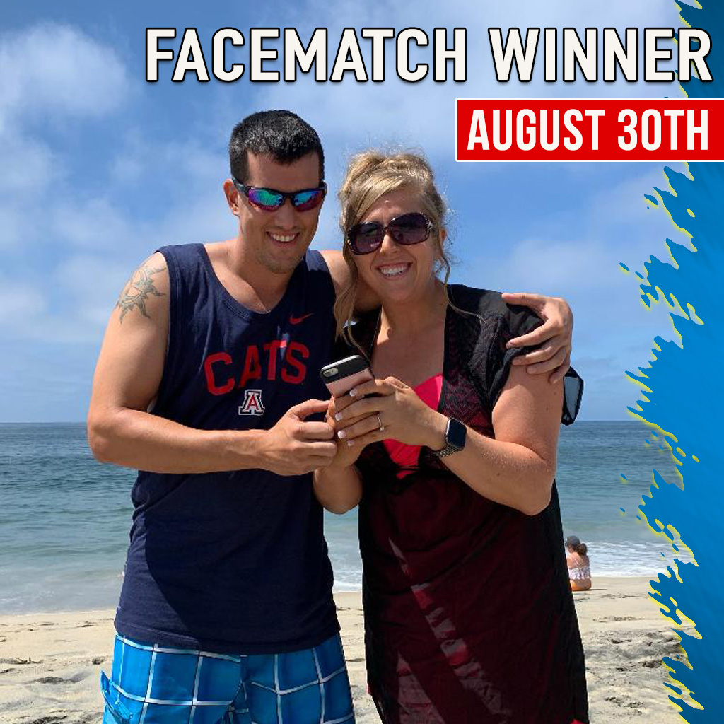 FACE MATCH WINNER AUGUST 2019
