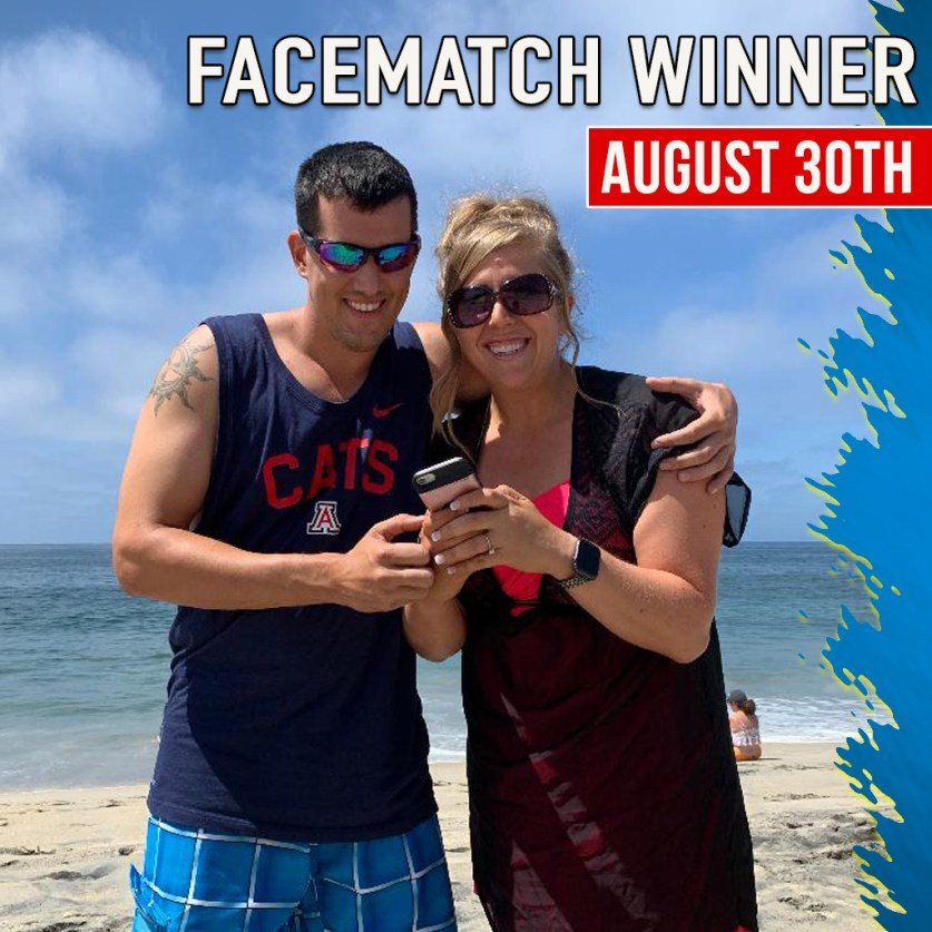 FACE MATCH WINNER AUGUST 2019