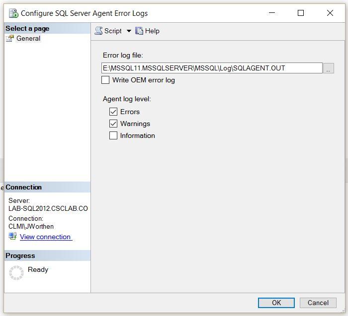 configure_sql_server_agent_error_logs_window