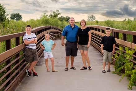 Love this Family on the Bridge at Bartlett Nature Center