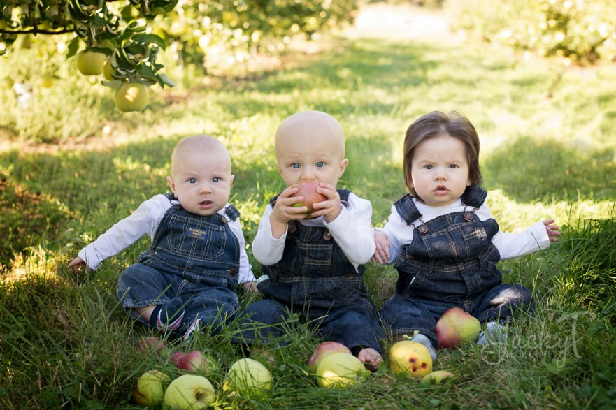 I love that Owen is eating the apple.
