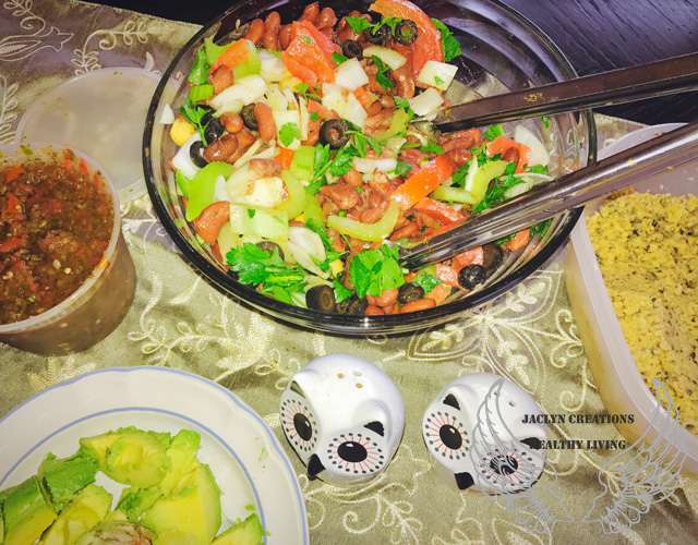 Kidney Bean, Celery, Tomato and Parsley Salad