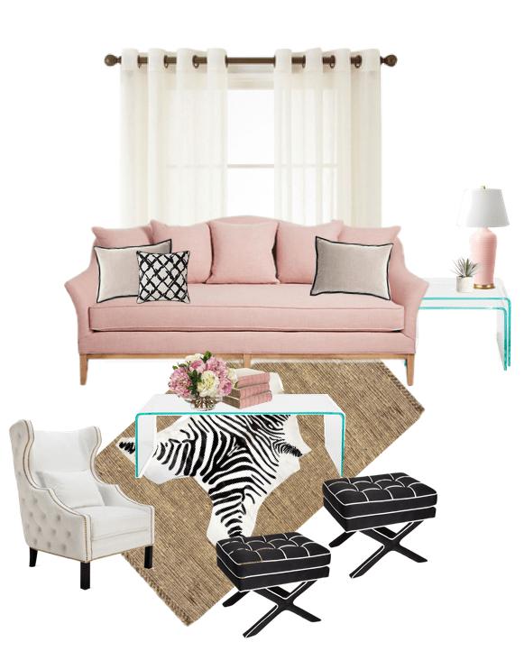 Jaclyn Colville Pink Living Room