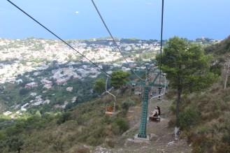 Chair Lift Down Mount Solaro