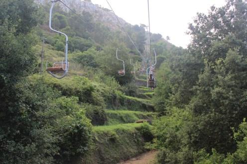 Chair Lift up Mount Solaro