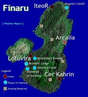 The continent of Finaru