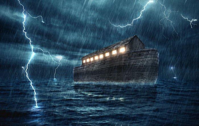 Noah's ark in the great flood
