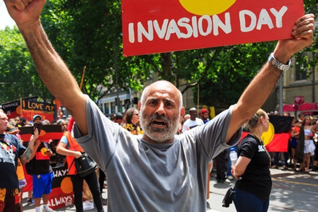 Invasion Day Protesters in Melbourne in 2018