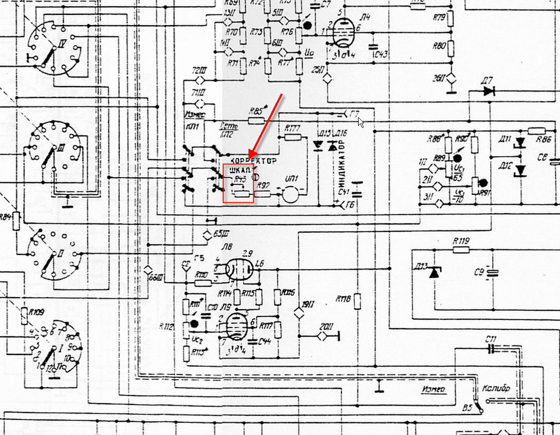 Static Tube Tester Schematic