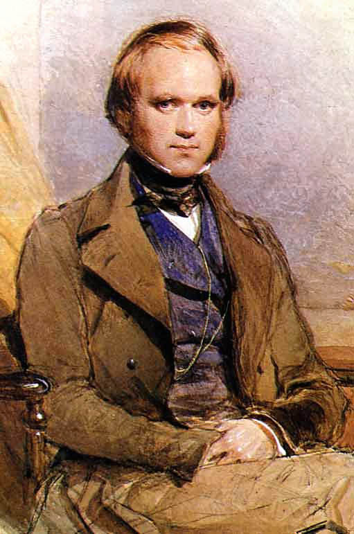 Charles Darwin, shortly after his return from the voyage of the Beagle. If he were still alive, he'd be 200 years old today