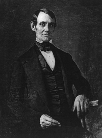 A pre-beard Abraham Lincoln in 1846 or 1847