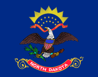 Officially, the ratio of North Dakota's flag is 33:26, but they're almost always made in the more standard 5:3 ratio