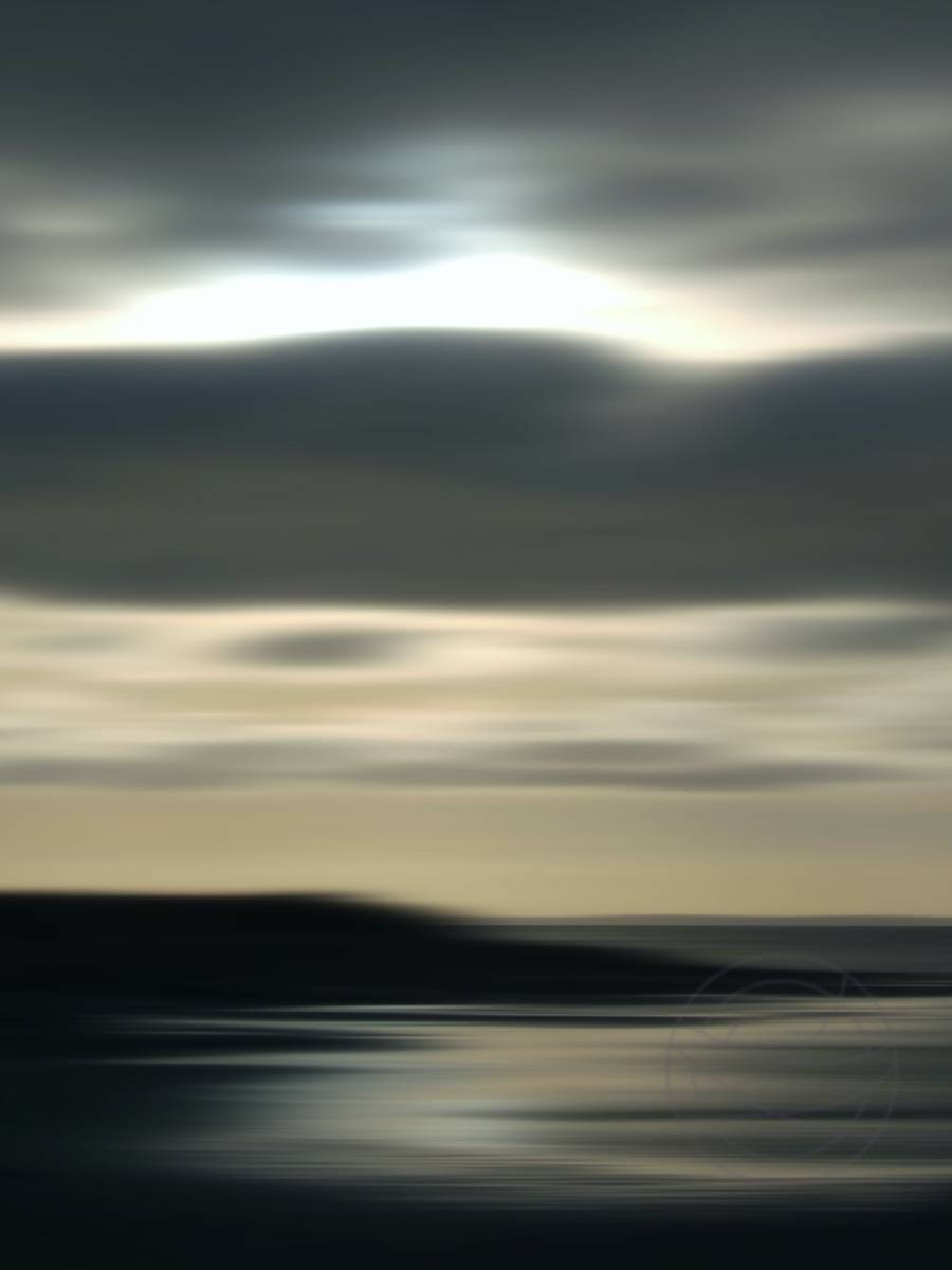 Kiss The World Asleep - Abstract realistic fine art seascape photography by Jacob Berghoef