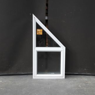 White Aluminium Awning Window With Triangle Toplight