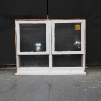 Wooden Double Awning Window With Bottom Lights