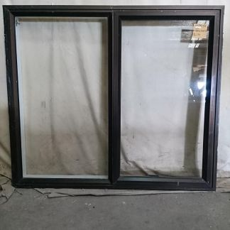 Mid bronze aluminium single awning window