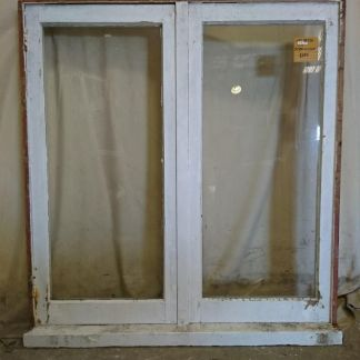 Wooden double casement window
