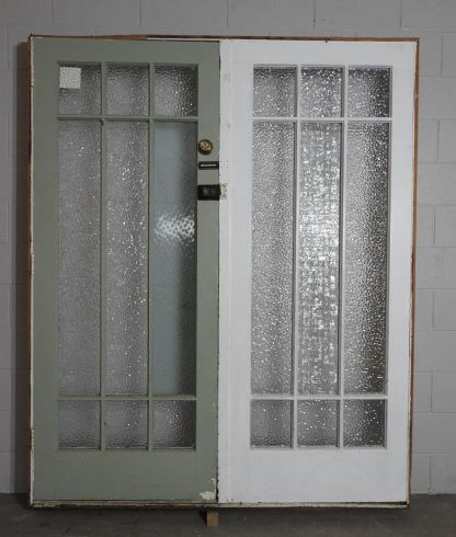 Wooden bungalow entry door with sidelight