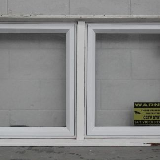 White aluminium awning window with obscure glass