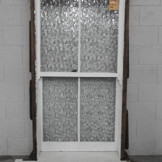 wooden double-hung window - obscure glass