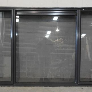 Dark Blue Aluminium double awning window with tinted glass