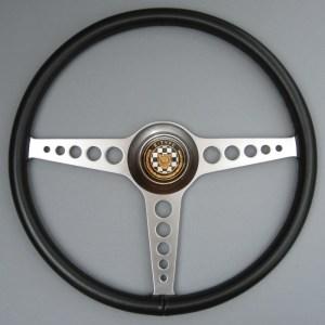 Jaguar E Type Leather Steering Wheel, Jaguar LWE Steering wheel, Competition e-type leather steering wheel