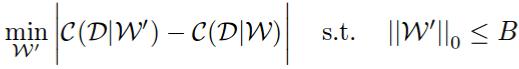 Pruning as a combinatorial optimization problem